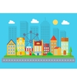 Urban and village landscape Cityscape vector image