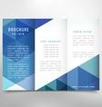 stylish trifold brochure vector image