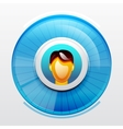 Blue user pic icon vector image