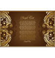 antique brown background vector image vector image