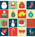 Christmas icon set Decoration elements vector image