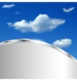 Abstract background with sky and clouds vector image vector image
