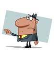 Angry Hispanic Guy Pointing The Blame vector image