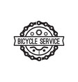 bike badge vintage style vector image vector image