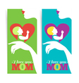 Happy Mothers Day Banners of beautiful silhouette vector image vector image