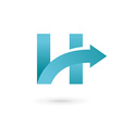 Letter H arrow logo icon design template elements vector image