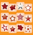 star icons vector image vector image