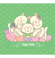 Happy family card vector image vector image