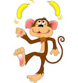 monkey with a banana vector image vector image