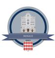 Monaco vector image
