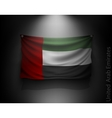 waving flag United Arab Emirates on a dark wall vector image vector image