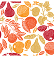 fruit season print vector image vector image
