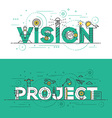Flat design line concept banner Vision and Project vector image vector image