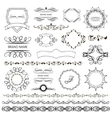 Set of graphic elements for design vector image vector image