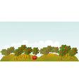 Apple garden vector image