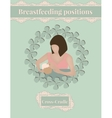 Breastfeed position Cross-Cradle vector image