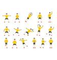 goalkeeper man icons set flat style vector image