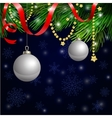Magic Christmas Background vector image
