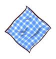 Napkin On White Background vector image