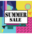 Super sale modern banner in the memphis style vector image