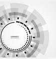technology circle design vector image