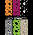 10 different halloween seamless patterns vector image