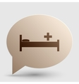 Hospital sign  Brown gradient icon on vector image