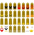 Straps Italian Army vector image vector image