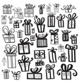 Gift box set different styles vector image