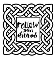 celtic black and white pattern scandinavian vector image