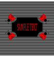 Ladybugs frame vector image vector image