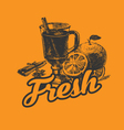 fresh drink poster vector image