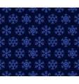 Christmas Snowflakes Blue Background with Seamless vector image vector image