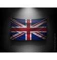 waving flag United Kingdom on a dark wall vector image
