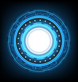 abstract circle technology background vector image