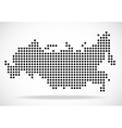 Abstract map of Russia from round dots vector image