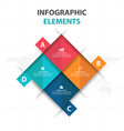 colorful 4 square business infographics elements vector image