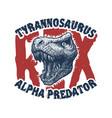 dinosaur head trex monster vector image