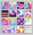 hologram texture background gradient modern vector image