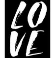 Love Watercolor hand lettering Modern brush vector image