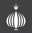 onion solid icon vegetable and diet vector image
