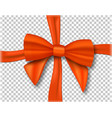 realistic ribbon isolated on transparent vector image