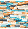 Seamless pattern which is composed of words on vector image