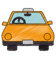 taxi service isolated icon vector image