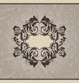 Revival ornamental card or invitation vector image