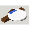 Isometric Home furniture - round bed Interior vector image