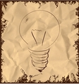 Old light bulb icon on vintage background vector image vector image