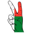 Peace Sign of the Madagascar flag vector image