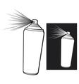 aerosol stencil vector image