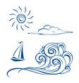 sea sailing vector image vector image